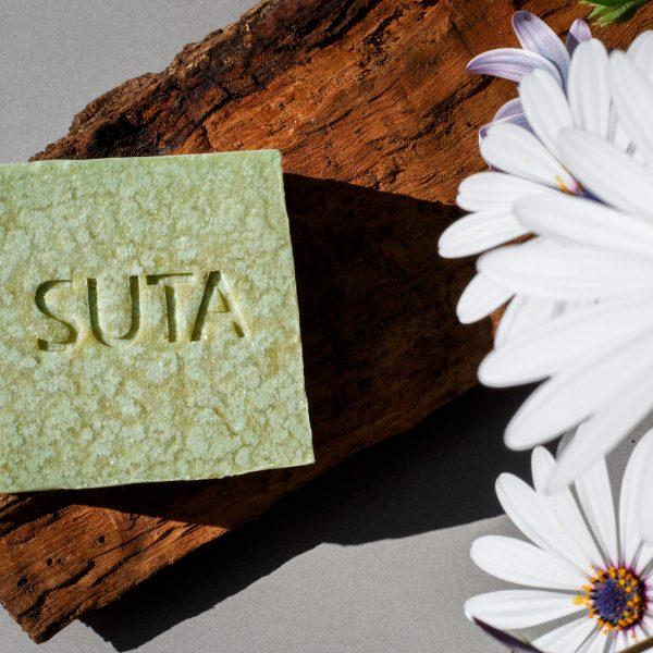 Jabón de menta y árbol de té SUTA Spirulina Tecnología